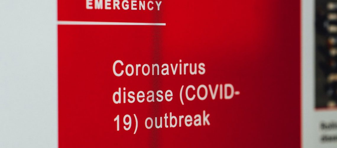 coronavirus hospital sign